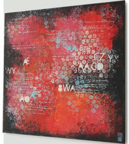 rood_abstract_typografie_popart_2ronald_hunter_rotterdam_kunst
