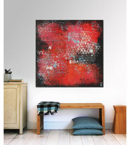 rood_abstract_typografie_popart_ronald_3hunter_rotterdam_kunst