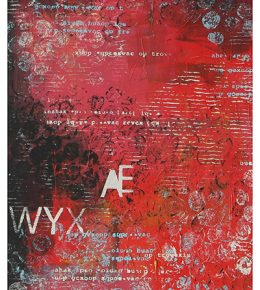 rood_abstract_typografie_popart_ronald_hunter_rotterdam_kunst