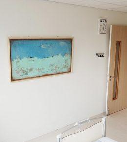 Ziekenhuis kamer met schilderij van Ronald Hunter