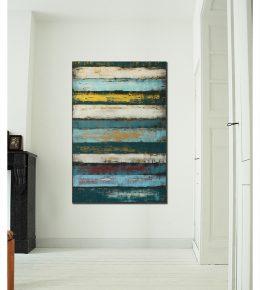 verticaal_schilderij_in_huis_ronald_hunter_abstracte_kuns_betaalbaar