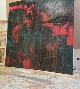 abstract_schilderij_proces_kunstenaar_aan_het_werk_ronald_hunter