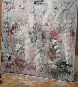 abstract_schilderij_proces_lagen_acrylverf_kunstenaar_aan_het_werk_ronald_hunter