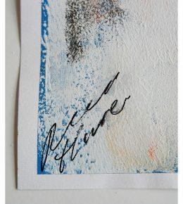 handtekening fine art on paper, schilderij op papier, moderne wanddecoratie van Ronald Hunter