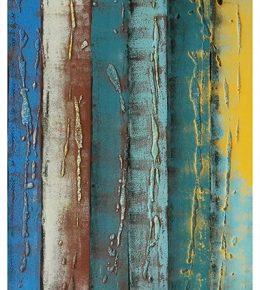 Abstract blauw schilderij, moderne kunst door Ronald Hunter