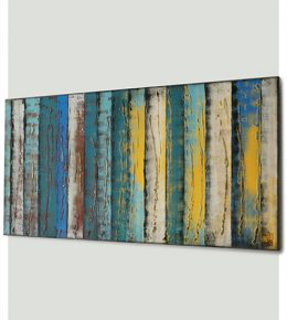 Abstract blauw schilderij, moderne kunst door Ronald Hunter