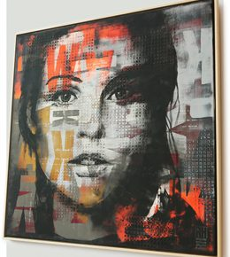 modern_abstract_portret_model_groot_schilderij_originele_kunst_ronald_hunter