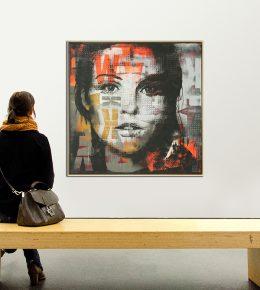 modern_portret_model_groot_schilderij_originele_kunst_ronald_hunter_kunst_rotterdam_nederland