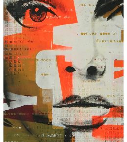 pop_art_nederland_kunstenaar_ronald_hunter_abstract_schilderij_portret_gezicht