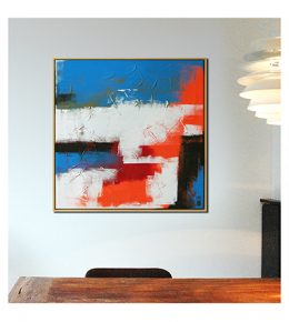 Abstract modern, kleurrijk schilderij van Ronald Hunter