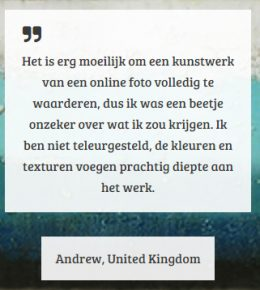 Een positieve recensie over Ronald Hunter Paintings.