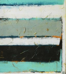 Stacked in Turquoise, origineel schilderij door Ronald Hunter.