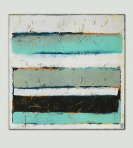 Stacked Turquoise, modern XL schilderij door Ronald Hunter