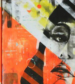 Pop Art schilderij, origineel kunstwerk door Ronald Hunter
