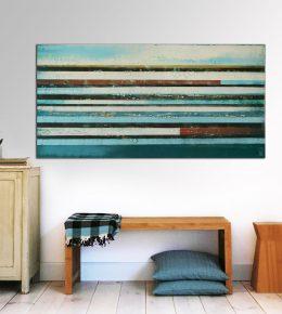 in_room_blue_art_lines_ronald_hunter