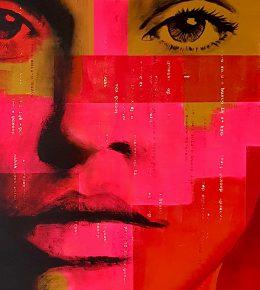 Pop Art schilderij, originele kunst van Ronald Hunter.
