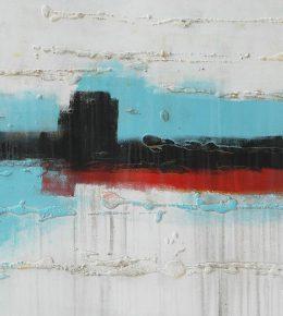Schilderij gemaakt door Rotterdamse kunstenaar Ronald Hunter.