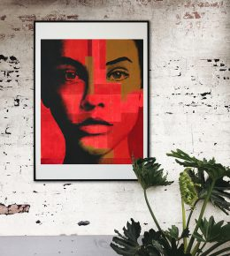 fine_art_print_abstract_portrait_pop_art_ronald_hunter_in_room